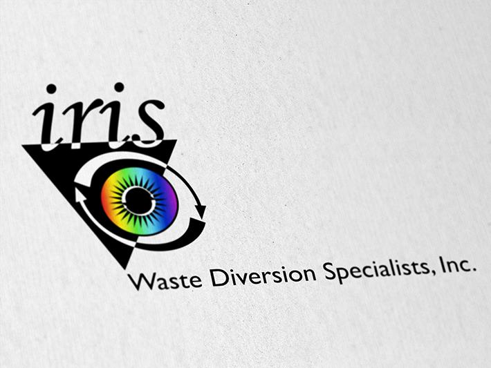 todd archer  u00bb iris waste diversion specialists logo apparel logistics apparel logo design