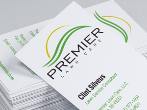 Premier Lawn Care Business Cards