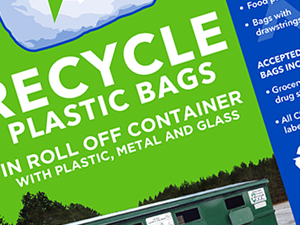 Manistee County Bag Recycling Sign