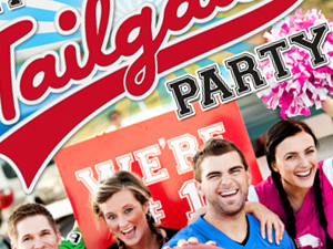Campus Den Tailgate Party Poster