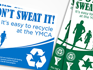 YMCA Recycling Bin Labels