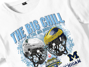 Michigan State vs. Michigan Hockey Big Chill Tees